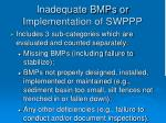 inadequate bmps or implementation of swppp