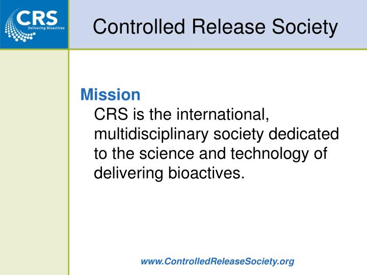 controlled release society n.