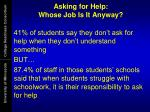 asking for help whose job is it anyway