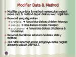 modifier data method