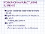 workshop manufacturing suspense