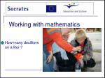 working with mathematics