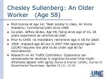 chesley sullenberg an older worker age 58