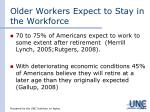 older workers expect to stay in the workforce