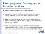 reemployment consequences for older workers