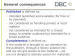 generel consequences