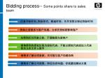 bidding process some points share to sales team