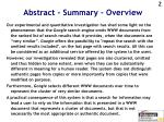 abstract summary overview
