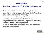 discussion the importance of similar documents