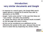 introduction very similar documents and google
