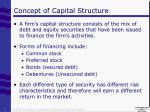 concept of capital structure
