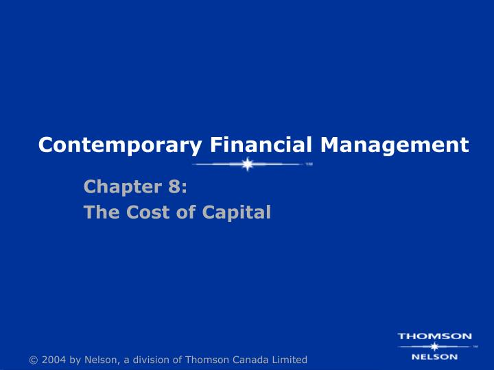 contemporary financial management n.