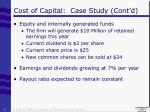 cost of capital case study cont d