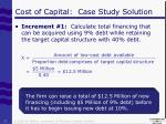 cost of capital case study solution4