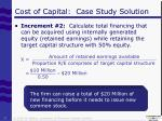 cost of capital case study solution6