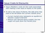 issue costs discounts