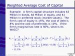 weighted average cost of capital1