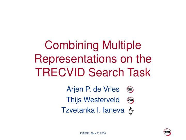 combining multiple representations on the trecvid search task n.
