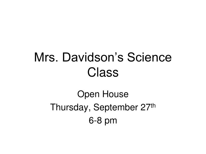 mrs davidson s science class n.