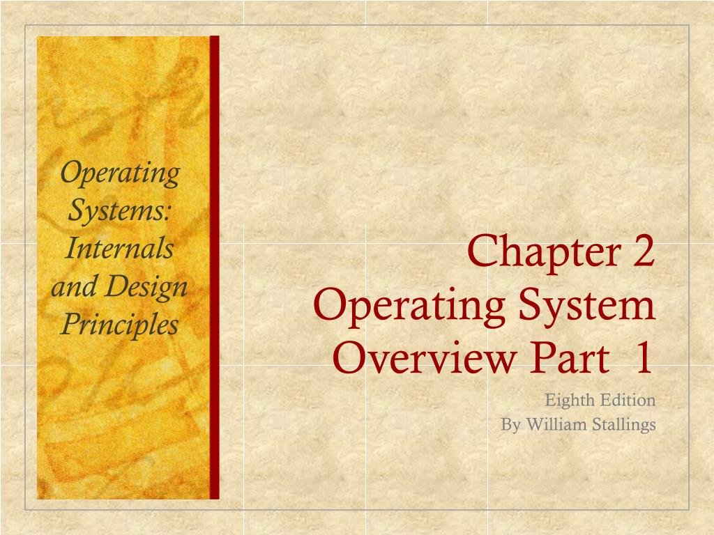 Ppt Chapter 2 Operating System Overview Part 1 Powerpoint Presentation Id 5621884