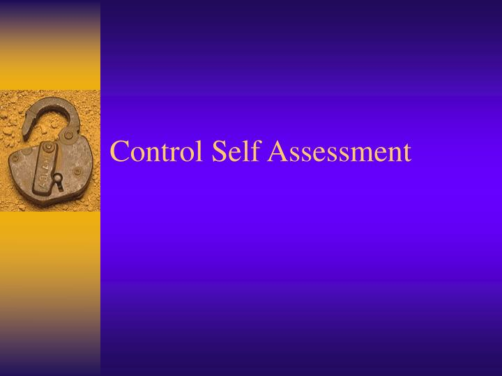PPT - Control Self Assessment PowerPoint Presentation - ID