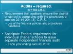 audits required 29 1 603 c r s
