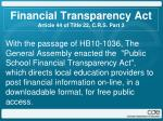 financial transparency act article 44 of title 22 c r s part 3