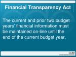 financial transparency act