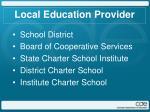 local education provider