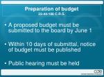 preparation of budget 22 44 108 c r s