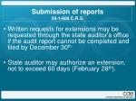 submission of reports 29 1 606 c r s1