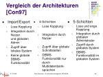 vergleich der architekturen con97