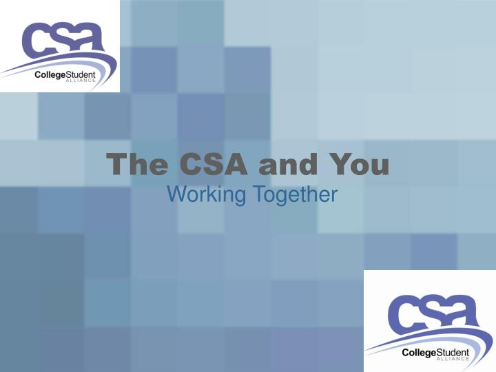 the csa and you n.