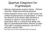 quantum computers for cryptanalysis
