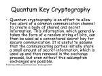 quantum key cryptography