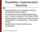 possibilities implementation scenarios