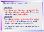 chemical reactions cont