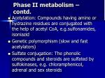 phase ii metabolism contd