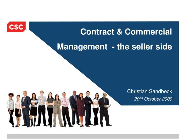 contract commercial management the seller side n.