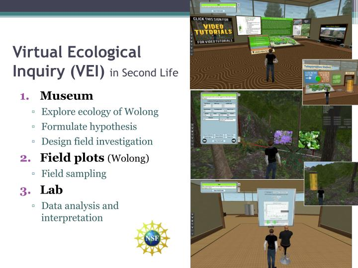 Virtual ecological inquiry vei in second life
