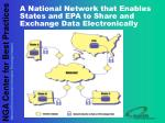 a national network that enables states and epa to share and exchange data electronically