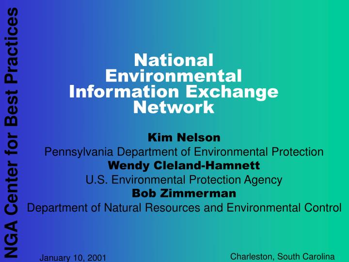 national environmental information exchange network n.