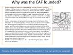 why was the caf founded
