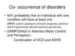 co occurrence of disorders
