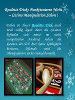 roulette tricks funktionieren nicht casino manipulation schon