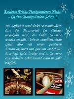 roulette tricks funktionieren nicht casino manipulation schon1