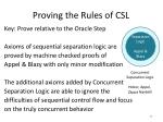 proving the rules of csl