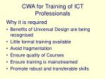 cwa for training of ict professionals