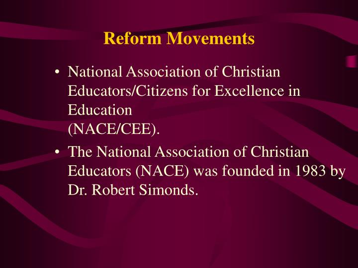 reform movements n.