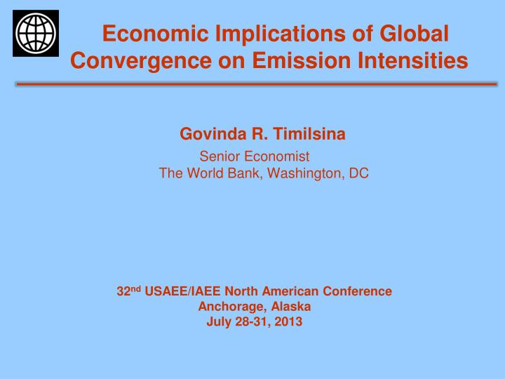 economic implications of global convergence on emission intensities n.